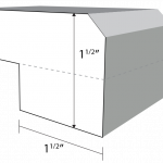 Bevel Square edge profile