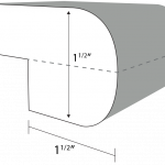 Double Bullnose edge profile