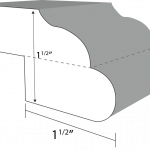 Ogee Bullnose Step edge profile