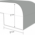 Top Radius edge profile