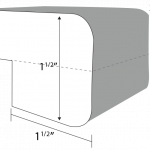 Radius edge profile