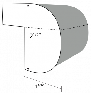 Triple Bullnose edge profile
