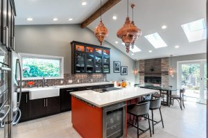 exquisite kitchen countertop mountain view image